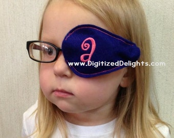 Eye Glasses Patch Embroidery Design In The Hoop Eyewear EyePatch