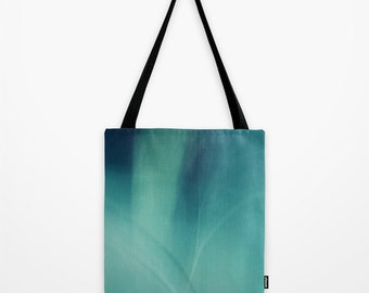 Underwater - Deep Blue Sea abstract Tote Bag Poly Poplin Fabric  Photography 13x13 16x16 18x18 Art abstract modern stylish blue turquoise