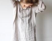 Lazy days 100% natural linen dress