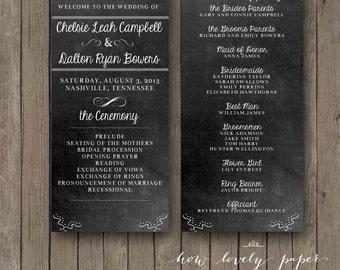 Printable Wedding Program - the Emma Collection