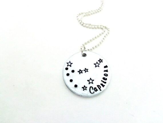 Zodiac Constellation Necklace - You Pick Your Sign - Astrology Jewelry - Capricorn, Sagittarius,Taurus, Leo, Pisces - Customizable