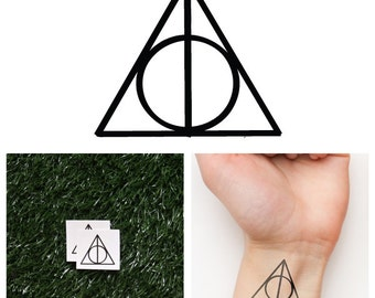 Harry Potter - Deathly Hallows- Temporary Tattoo (Set of 2)