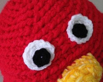 Crochet Amigurumi - Meep the Big Red Bird