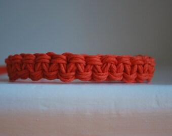 Bright Orange Super Soft Thick Hemp Bracelet