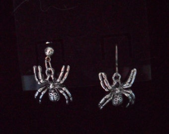 Halloween Themed Spider Earrings