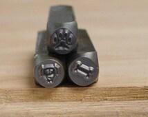 Dog Love Stamp Set - Dog Paw, Dog Face, and Bone - Metal Punch - Metal Supplies