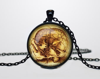 Leonardo da Vinci necklace Leonardo da Vinci drawing pendant Leonardo da Vinci drawing jewelry