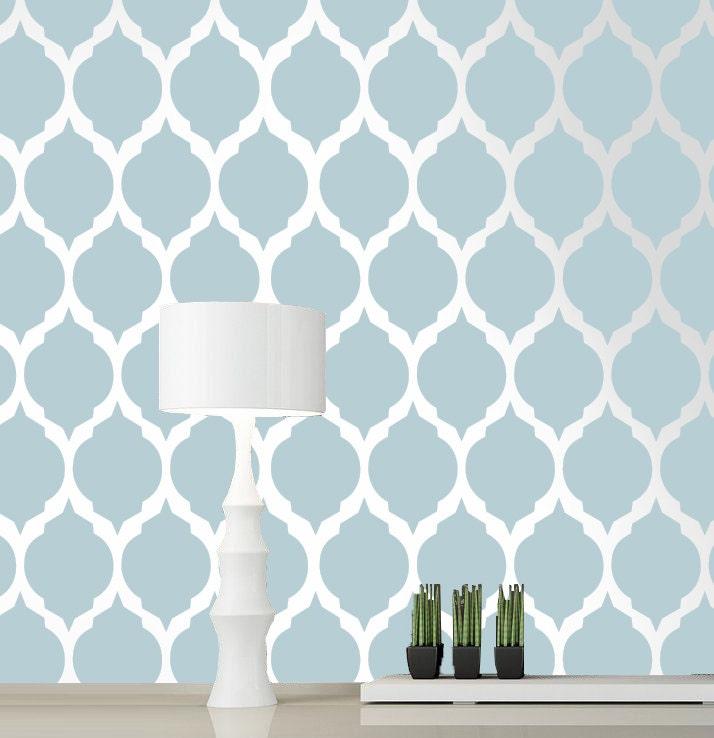 Moroccan stencil pattern reusable wall stencil designs by decorze - Wand muster schablonen ...