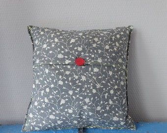 Grey Cushion cover (30 x 30 cm) with neon stitching