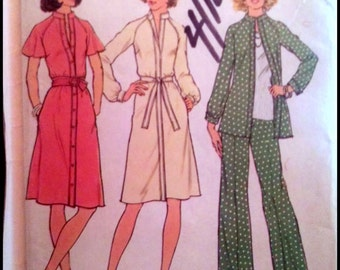 "Simplicity 7092 Misses' Dress Or Top And Pants  Bust 34""  UNCUT"