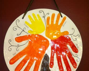 Handprint Family Tree Wall Hanging