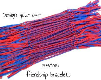 40 Custom Friendship Bracelets - Bulk Order Form - Bulk Friendship Bracelets