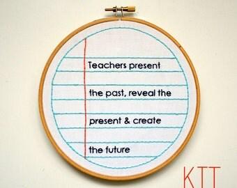 "Embroidery Kit ""Teacher"""