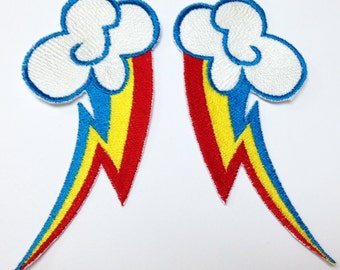 Rainbow Dash Cutie Mark Patch SET