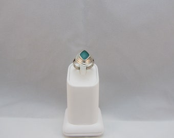 Sterling Silver Green Onyx Ring size 9