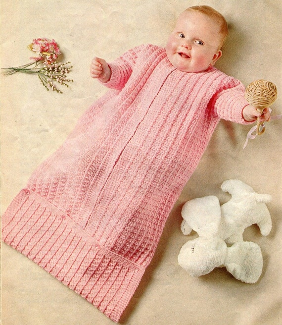 Baby Bunting Bag Knitting Pattern : Instant Download Knitting Pattern BUNTING BAG by KenyonBooks
