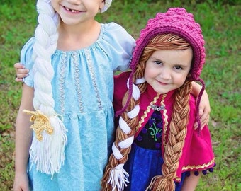 Frozen Inspired Elsa and Anna Hats (combo package)