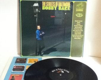 Bobby Bare The Streets of Baltimore Vintage Vinyl 33 Record Album LP 1966 RCA LSP 3618