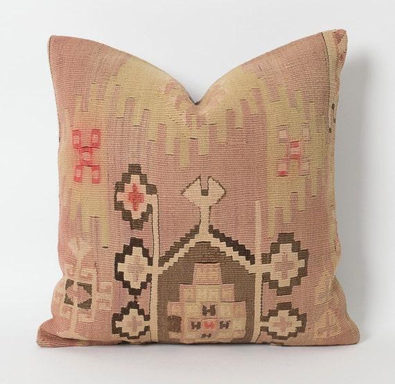 Pastel Kilim Pillow Vintage Kilim Pillows Turkish By Pillowme