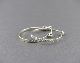 Sterling Silver Hoop Earrings for Women - Small Earring Hoops - Handmade Earrings - Lightweight Earrings Hoops