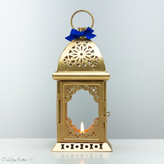 24k gold moroccan lantern unique vintage by