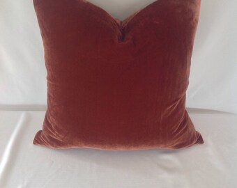 Rusty Color Velvet Pillow Cover