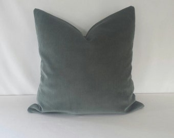 Schumacher Classic Corduroy in the color Mineral Pillow Cover