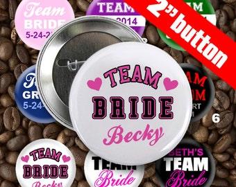 13 TEAM Bride TEAM Groom Pinback Buttons badge Set