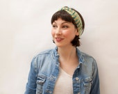 Stretchy Headband in Yellow Green, Hand Knitted Headwear, Spring Summer Hair Accessory, Ready to Ship