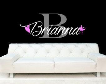 Ballet, Dance, Perform, Recital, Girl, Child, Tween, Personalized Name, Monogram, Decal, Vinyl, Sticker, Wall, Home, Bedroom Decor