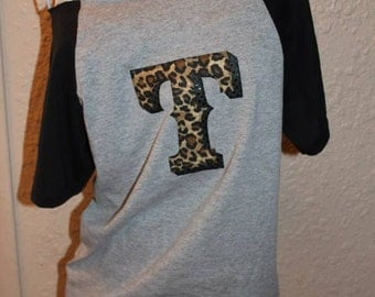 Texas Rangers Cheetah 'T' Off-the-Shoulder Shirt Baseball