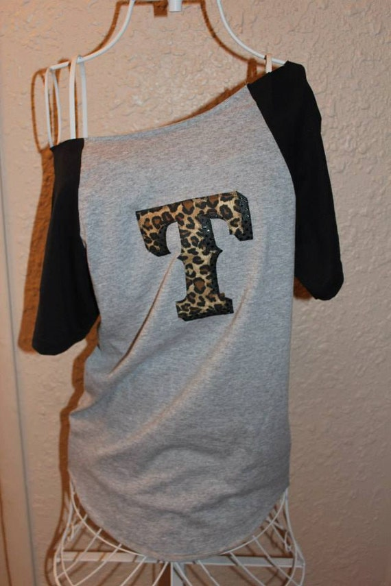 Texas rangers cheetah 39 t 39 off the shoulder shirt for Texas baseball t shirt