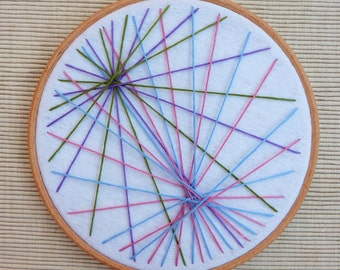 Geometric Embroidery Hoop Art