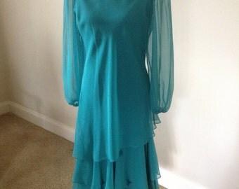 Pretty Chiffon Dress By Gobina  Vintage