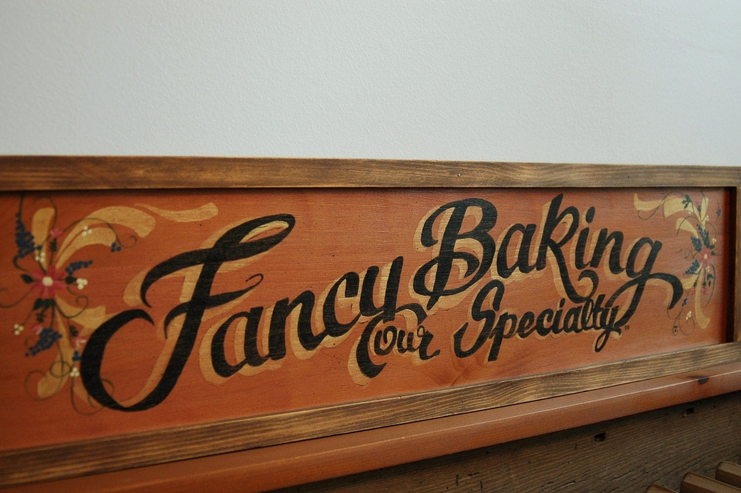 Kitchen Baking Sign Hand Painted Wooden Sign Faux Vintage