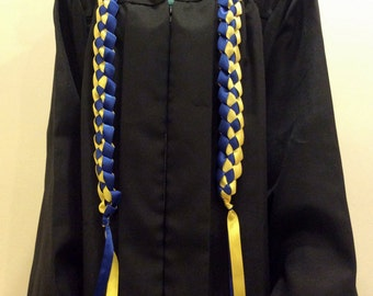 Ribbon Cord 2-color Hand-Crafted with Satin Ribbon (Perfect gift for graduations, birthdays, weddings, and more)
