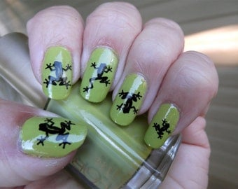 Black crow raven nail art rav water slide transfer decals 52 black frogs nail art frb tree frogs water slide transfer decals not prinsesfo Choice Image