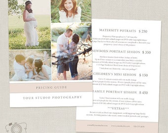 Photography Package Pricing List Template - Photography Pricing Guide - Price List - Price Sheet -024 - C178, INSTANT DOWNLOAD