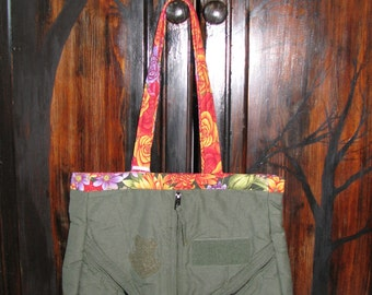 Latimer Flightsuit Shoulder Bag- Floral REDUCED-CLEARANCE
