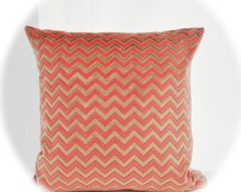 Zigzag Velvet Pillow Cover,Geometric Velvet Pillow,Modern Velvet Pillow Cover ,Pink Velvet Pillow Cover,Chevron  Velvet Pillow Cover
