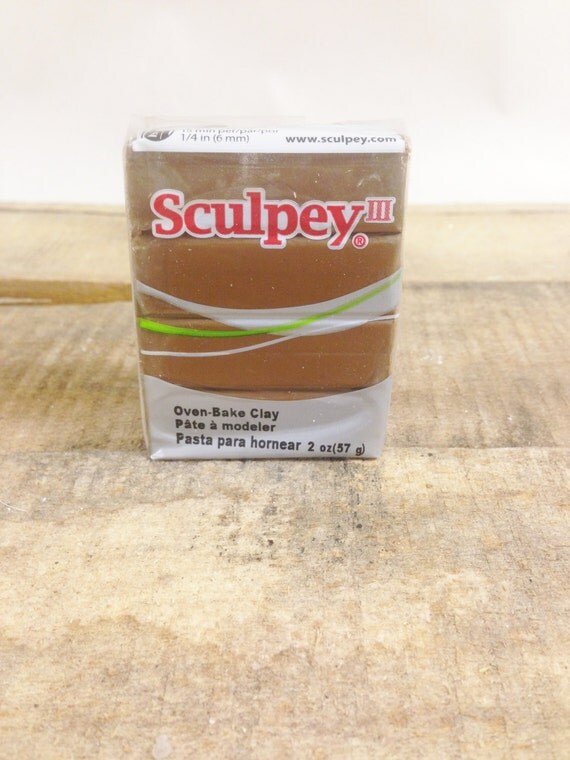 Hazelnut Sculpey Oven Bake Polymer Clay 2oz Block