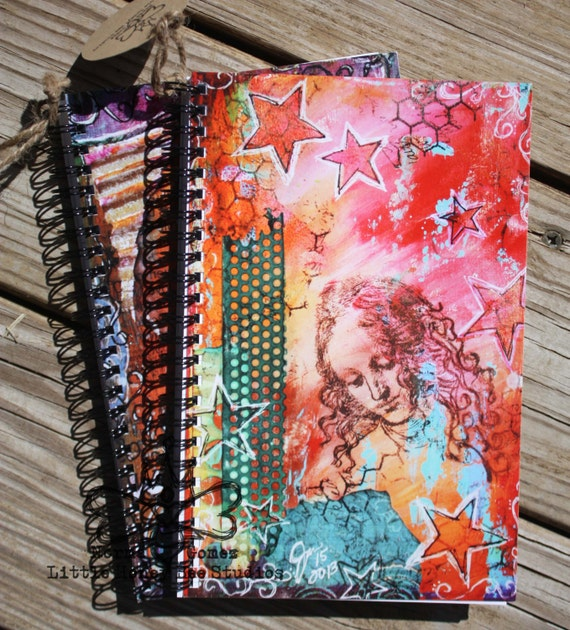 SALE: Spiral Notebook - Dancing Stars