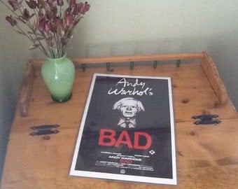 Poster- Andy Warhol'S BAD by film distributors. Pop Culture decorative collectible.