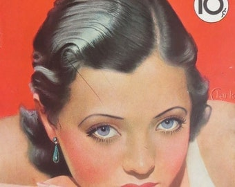 Original October 1932 Sylvia Sidney Movie Mirror Magazine Cover - Hollywood's Golden Age - Free Shipping