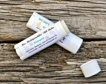 All Natural Wintergreen Lip Balm, Mint Chapstick, Wintergreen Oil Tube Chapstick, Vitamin E Lip Balm, Cocoa Butter Coconut Oil Chapstick,