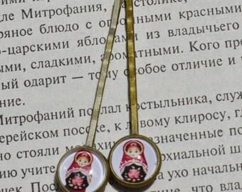 Matryoshka Doll Bobby Pin 1 Pair 2,5 inch