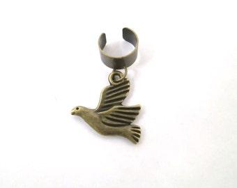 Bronze Bird ear cuff wrap