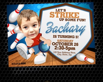 Bowling Invitation - Bowling Party - Bowling Birthday - Bowling - Sports Birthday - Printable Party - Bowling Alley