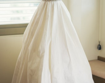"Pearl and Rhinestone ""Peek a Boo"" Bridal Sash - Wedding Dress Belt"