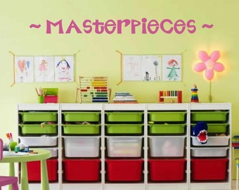 Kids wall decal - Wall art - Masterpieces Wall Decal - Childrens Playroom Wall Decals - Masterpieces -